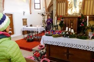 Žehnání adventních věnců, návštěva Mikuláše